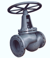 Клапан запорный стальной 15с18п