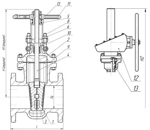 Задвижки стальные литые клиновые PN 2,5 МПа — 30с564нж