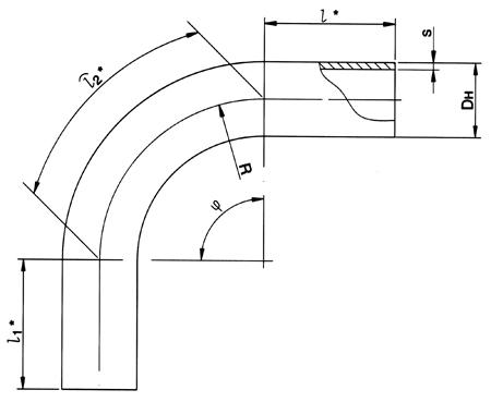 Отводы гнутые ОСТ 24.125.04-89