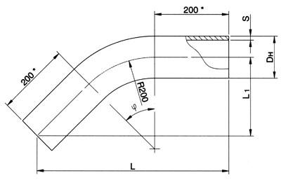 Отводы крутоизогнутые ОСТ 24.125.05-89