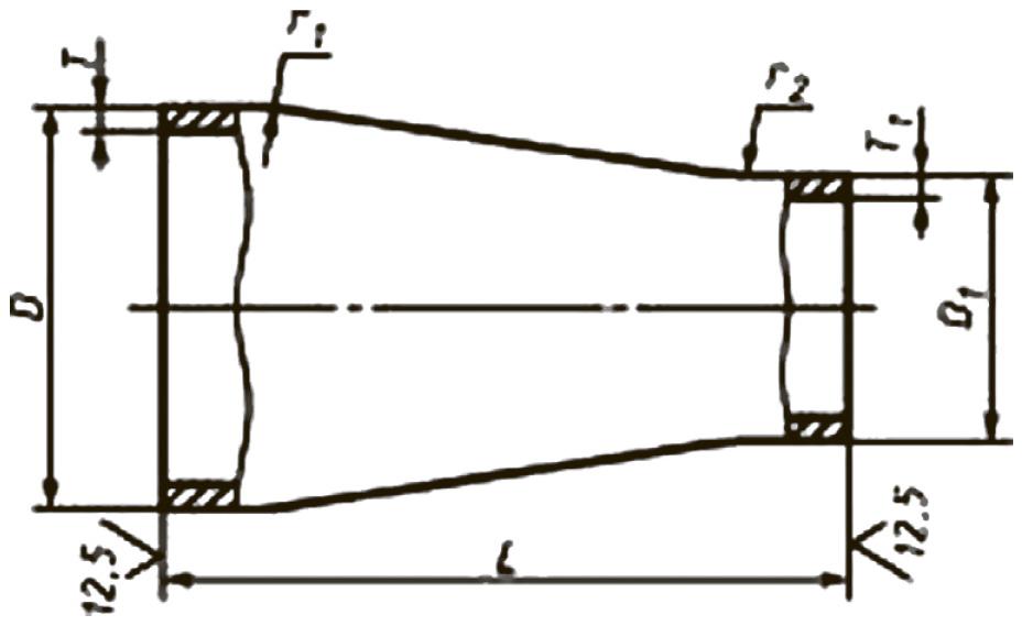 Переходы штампованные концентрические ТУ 1469-009-01394863-07