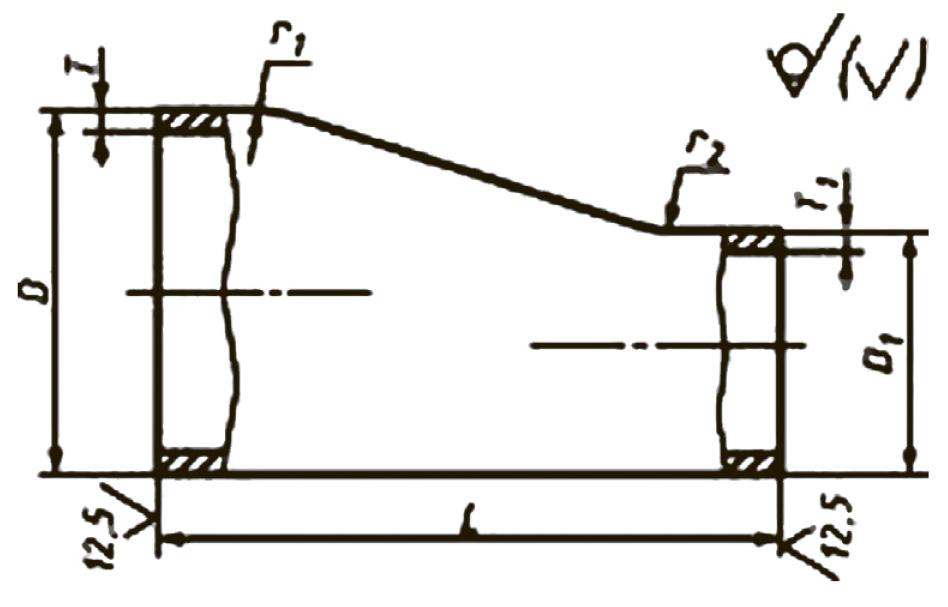 Переходы штампованные эксцентрические ТУ 1468-001-01394395-95