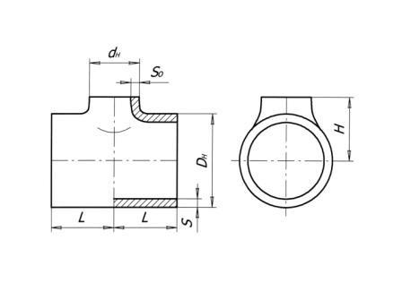 Тройники штампосварные ТУ 102 488-95