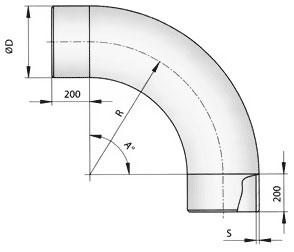 Отводы гнутые ТУ 51-515-91